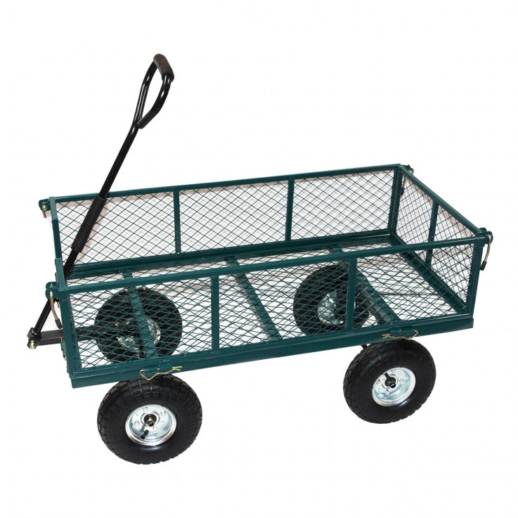 STEEL GARDEN CART WITH LINER
