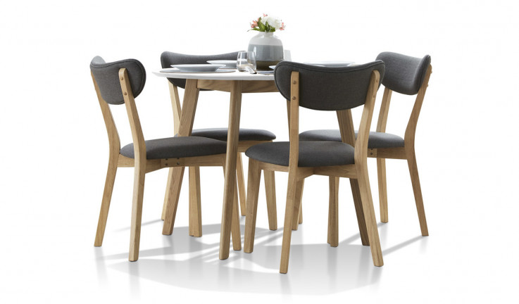 Helsinki white top dining suite with Rio