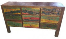 Boat Wood Chest of Drawers 9 Drw
