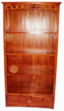 Bookcase 2 Drw Carved