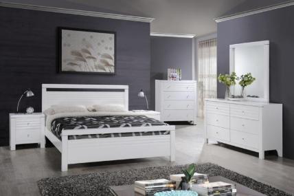 FERN QUEEN BED-WHITE