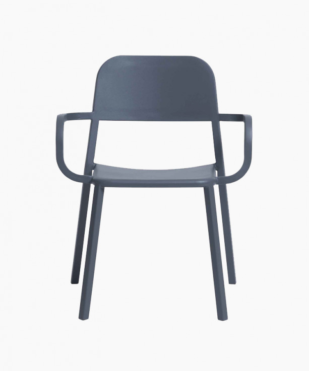Cosimo Armchair with Solid Back by Sean
