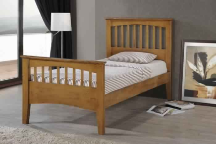 MAYO KING SINGLE BED-COUNTRY OAK