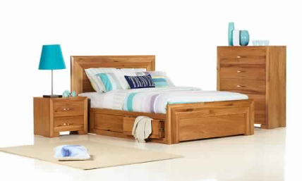 SORRENTO DOUBLE BED 4 DRAWER
