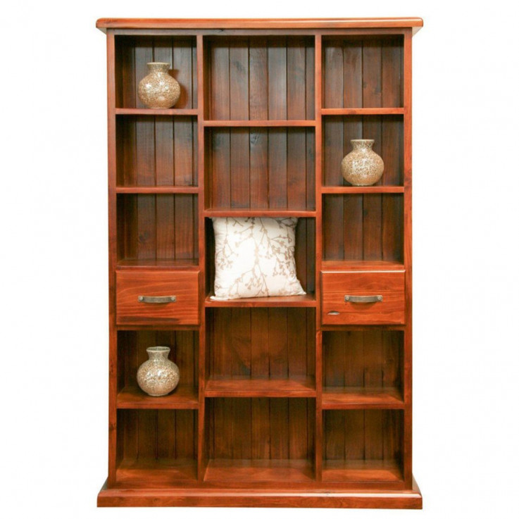 Classic 2 Drawer Staggered Bookcase