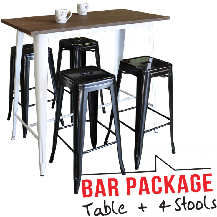 Replica Tolix Bar Table With 4 Tolix Sto