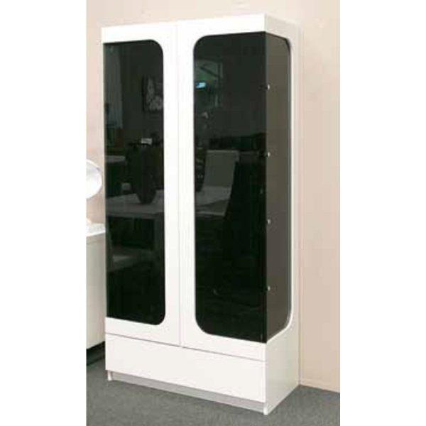 Sydney Display Unit with Black Glass