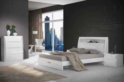 BUNTON QUEEN BED FOOT DRAW-HG WHITE