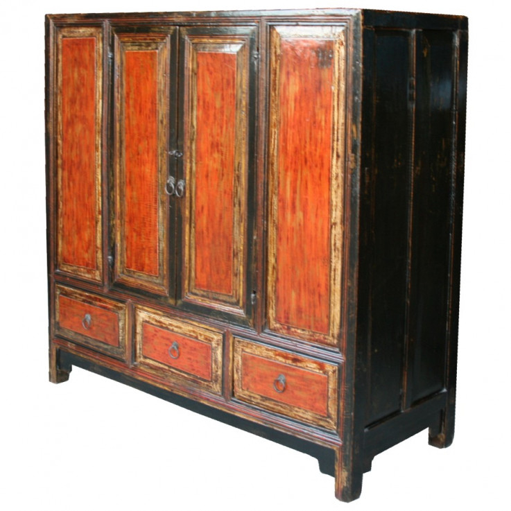 Large Original Wide Red Cabinet