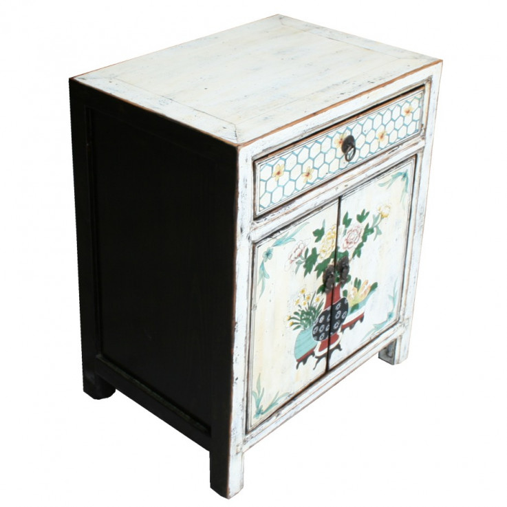 Tibetan Painted Bedside Table