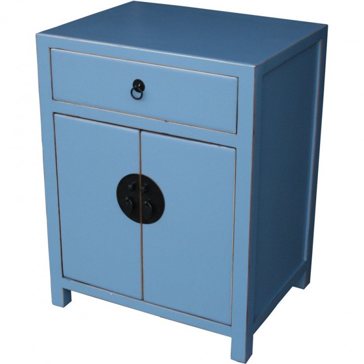 Light Blue Lacquer Bedside Table