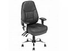INFINITY TASK CHAIR LEATHER BLK