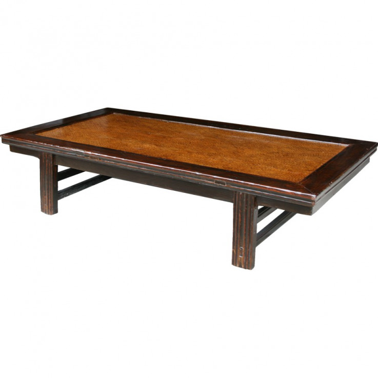Brown Chinese Day Bed Coffee Table