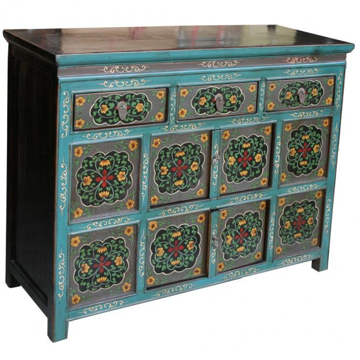 Original Painted Tibetan Sideboard/Cabin