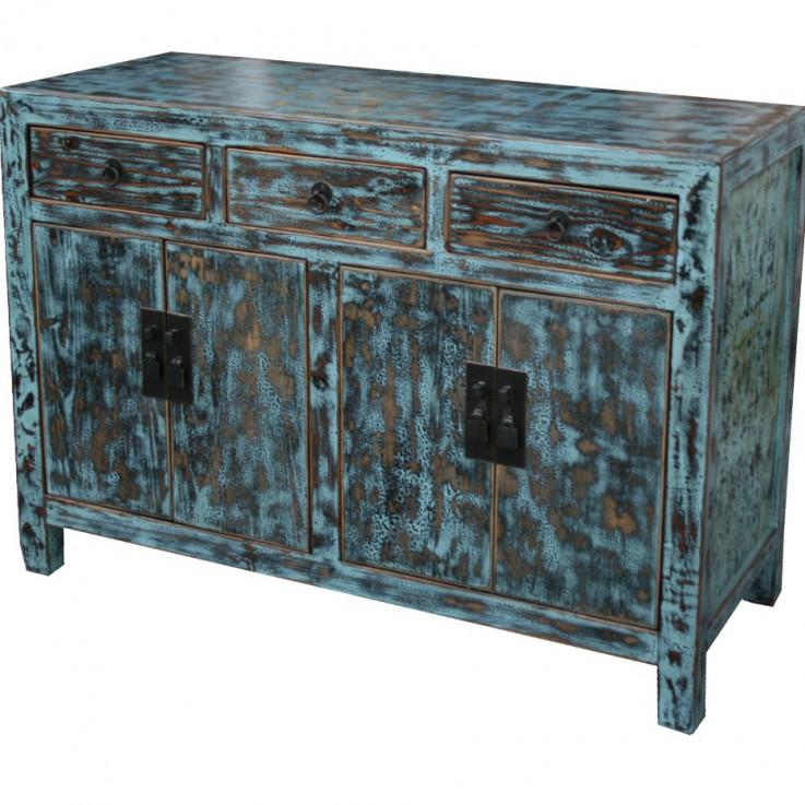 Light Blue Distressed Sideboard/Buffet