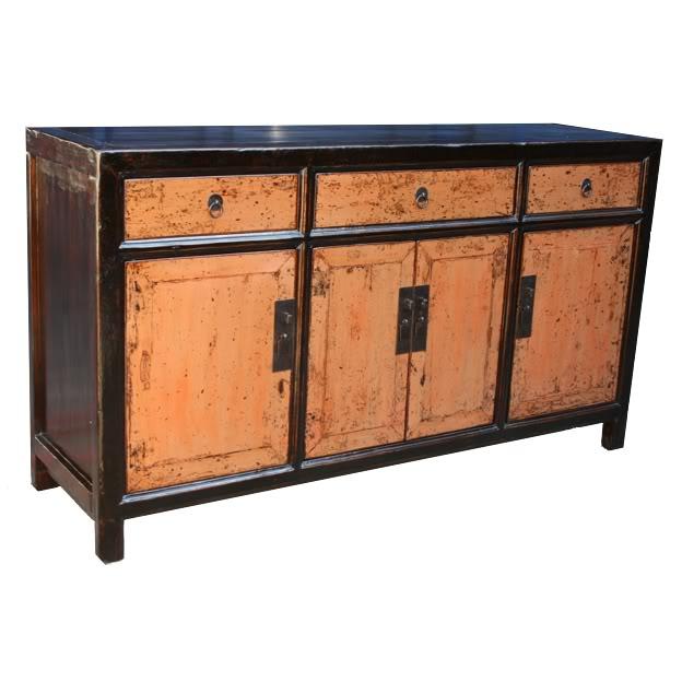 Original Four-Door Three Drawer Sideboar
