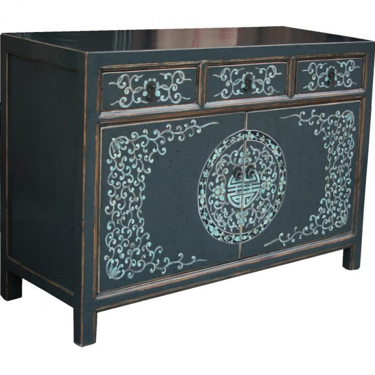 Black Mongolian Painted Sideboard