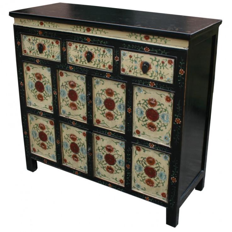 Original Painted Tibetan Sideboard