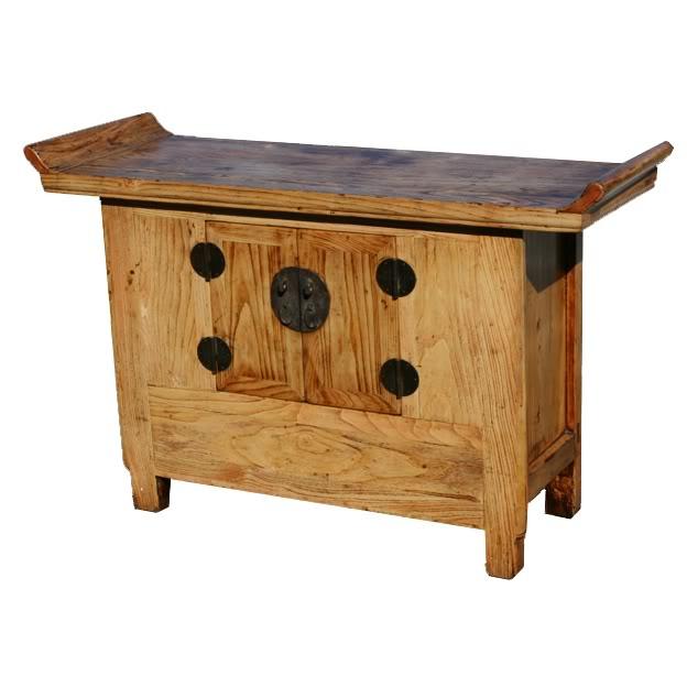 Original Wood Altar Table Sideboard