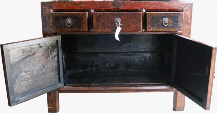 Original Three Drawer Painted Sideboard