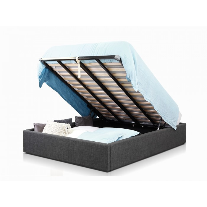 MILTON LIFT CHARCOAL DOUBLE BED