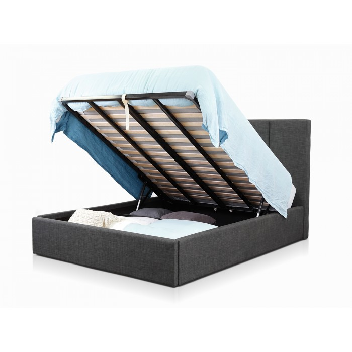 WENTWORTH LIFT CHARCOAL KING BED