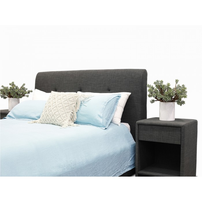 WENTWORTH CHARCOAL QUEEN BED