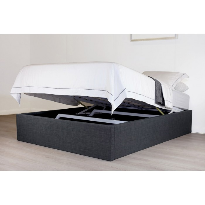SPACE LIFT BED BASE DOUBLE CHARCOAL