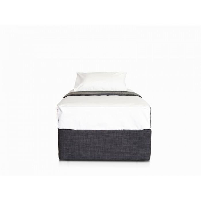 MODE CHARCOAL SINGLE BED BASE