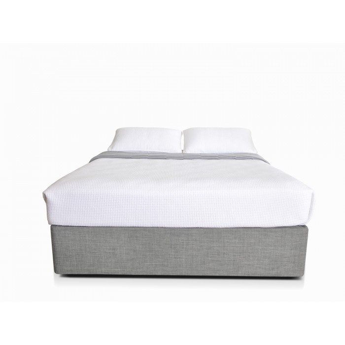MODE LIGHT GREY DOUBLE BED BASE