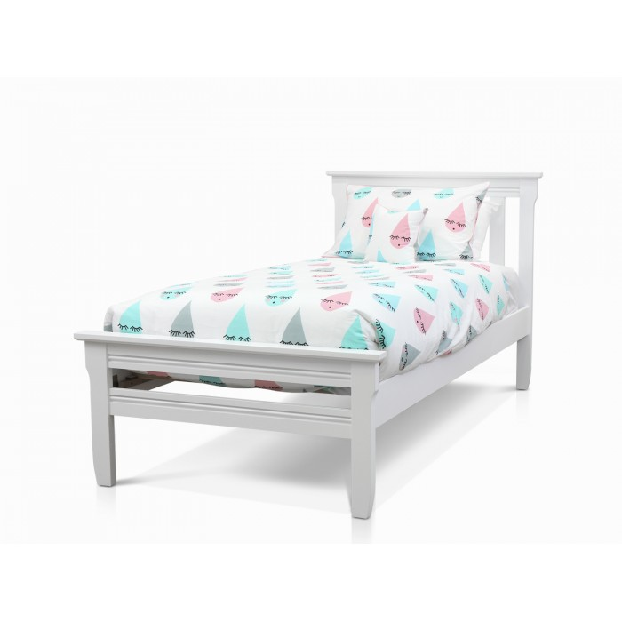 MILLIE WHITE KING SINGLE BED FRAME
